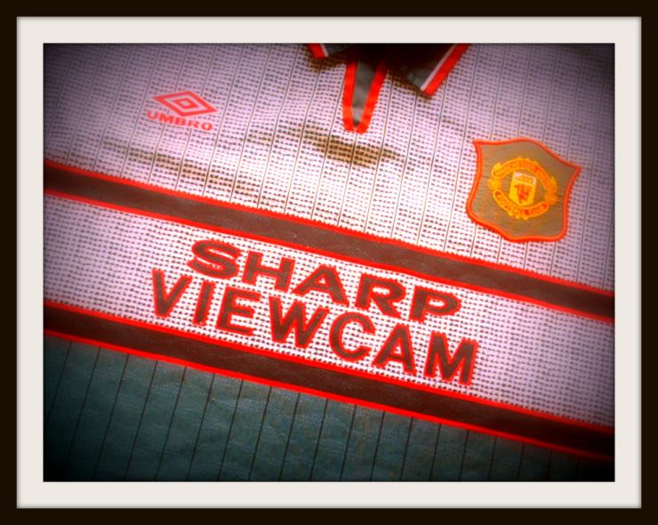Grey Manchester United shirt, Umbro, Premier League, Dell, Alex Ferguson, Southampton
