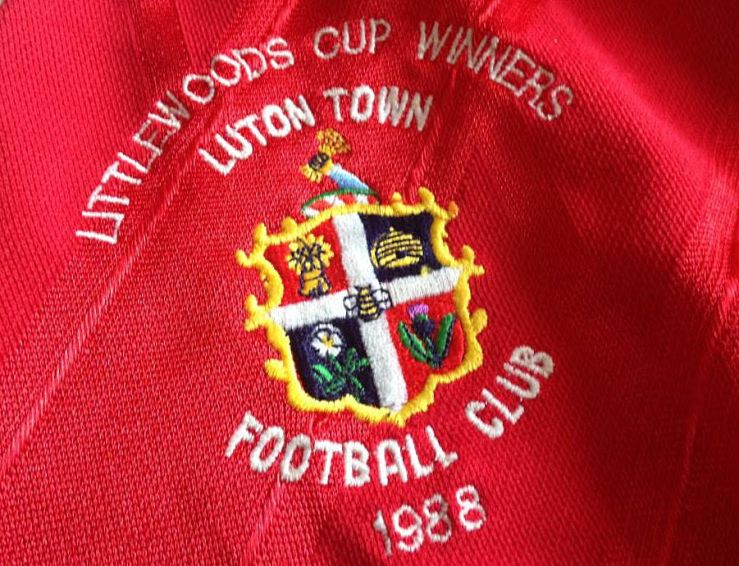 Rare, Luton Town. Red, Away, Adidas