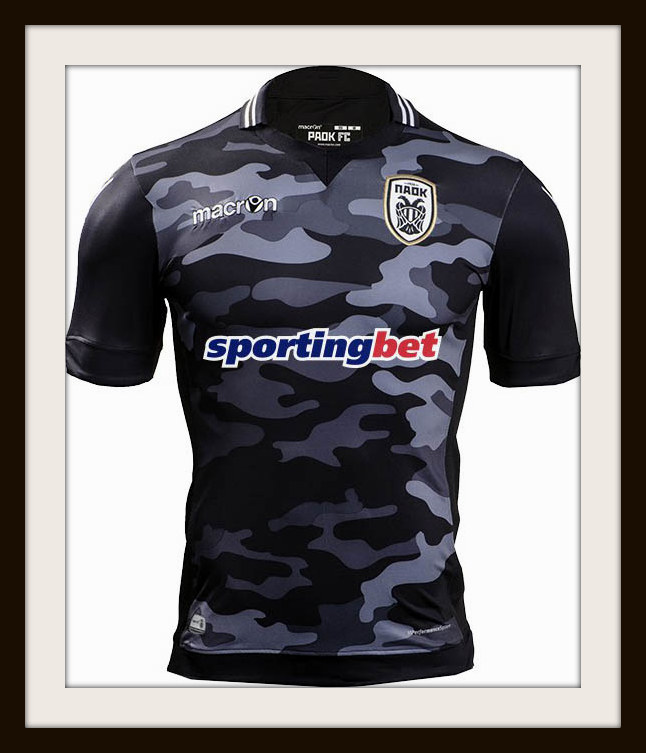 Macron, PAOK, camouflage kit, 2015/16