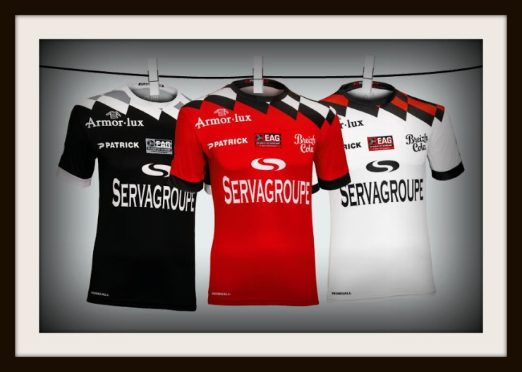 Patrick, 2018-19, EA Guingamp, third, home, away, shirts
