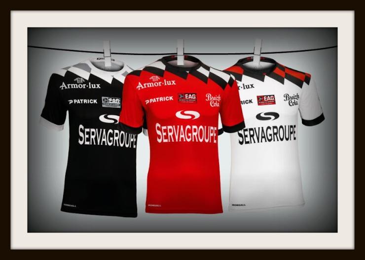 Patrick, 2018-19, EA Guingamp, third, home, away, shirts