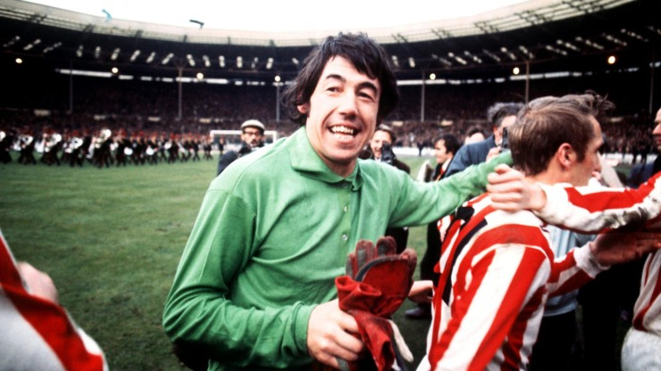 Gordon Banks, England's heroic 1966 World Cup winning goalkeeper, Stoke City