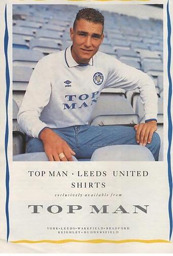 Leeds United/TopMan Kit Advert, 1989