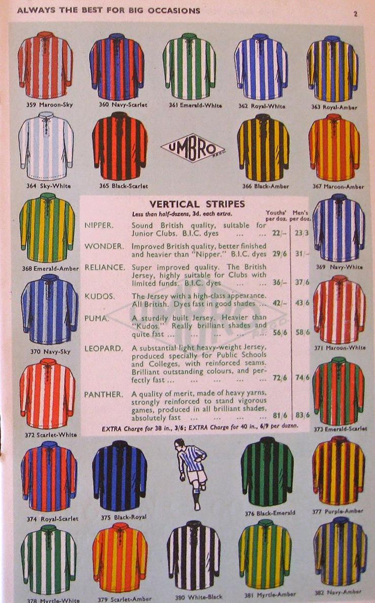 Umbro Catalogue, 1935