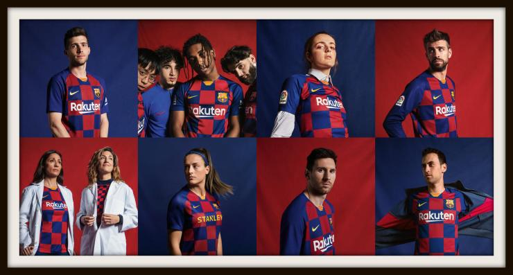 Barcelona, Nike, 2019-20, check, kit