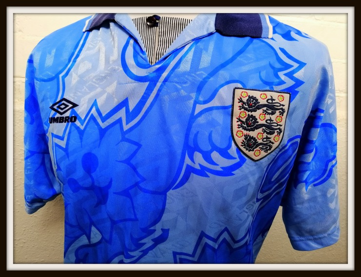 England, 1992, blue, Umbro, 3rd, Kit