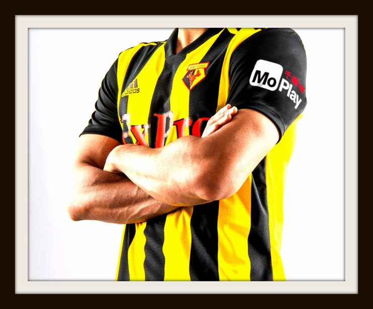 Watford, home, Kit, Adidas, stripes, 2018-19
