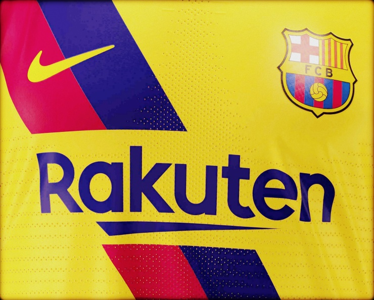 Barcelona, away, Nike, yellow, sash