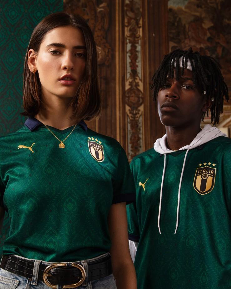 Italy, Puma, 3rd Kit, 2019, Renaissance
