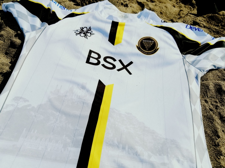 Kernow, Cornwall, Football shirt, beach, soccer