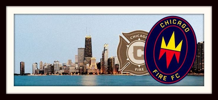 Chicago Fire FC, Chicago skyline, badge