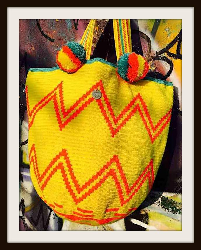 Colom Wayuu, Beach, Bag, yellow