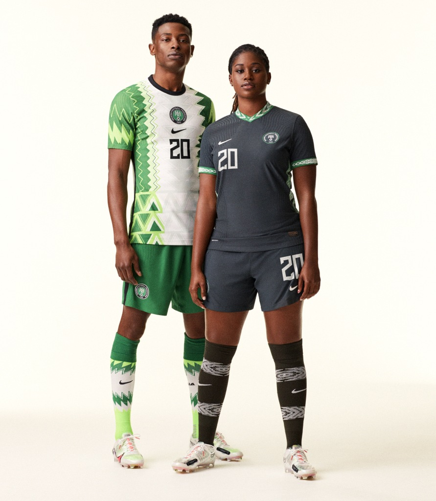 Nigeria's new home and away kits by Nike