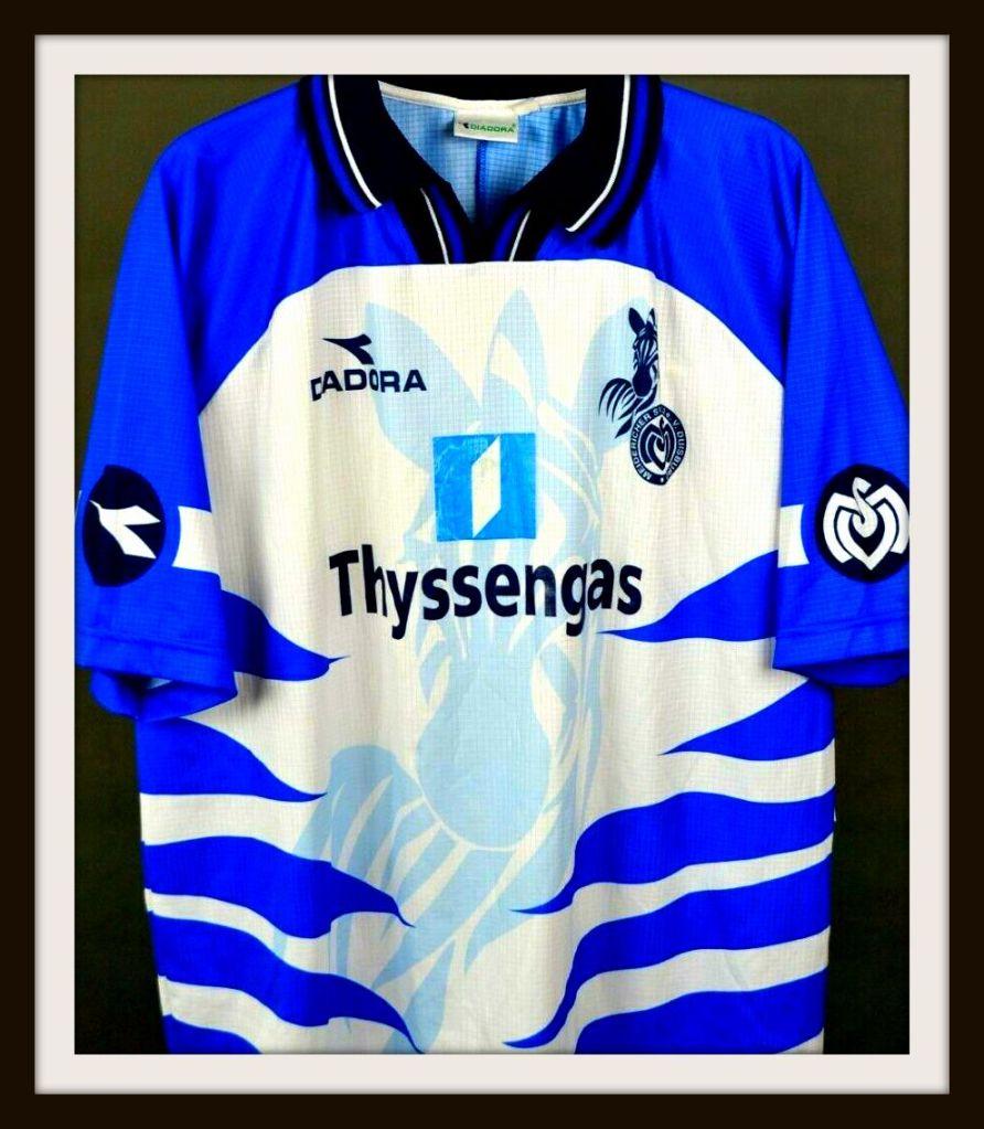 MSV Duisburg, home, trikot, 1998-99, Zebra