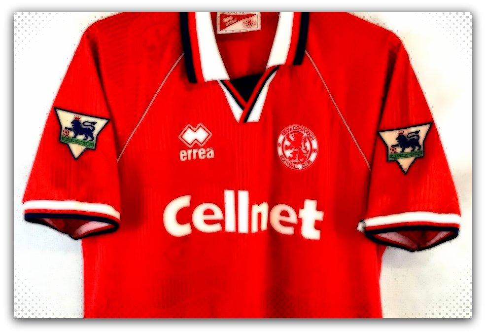 Middlesborough, 1995-96, shirt, Errea, Home