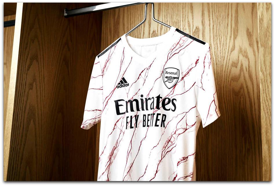 Arsenal, Adidas, Blood, Away, Shirt, 2020-21