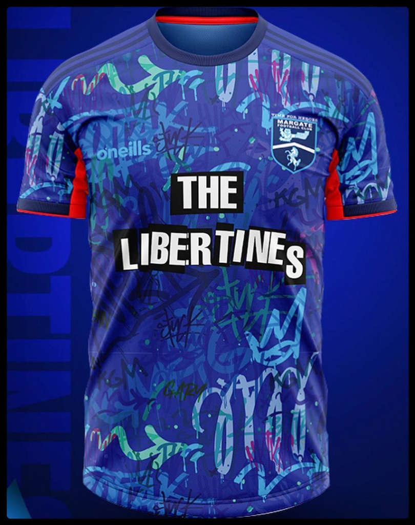Margate FC, The Libertines, O'Neill's, kit