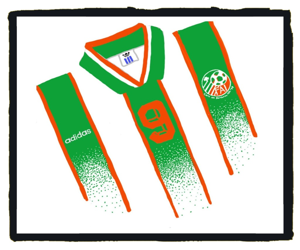 Republic of Ireland, USA '94, World Cup, Adidas, kit, away, jersey
