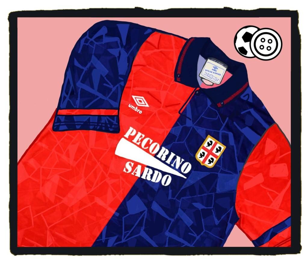 Cagliari, Umbro, Home, Maglia, Classic, football, calcio, shirt
