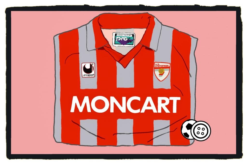 Cremonese, Moncart, Uhlsport, calcio, football shirt, kit, 1990s