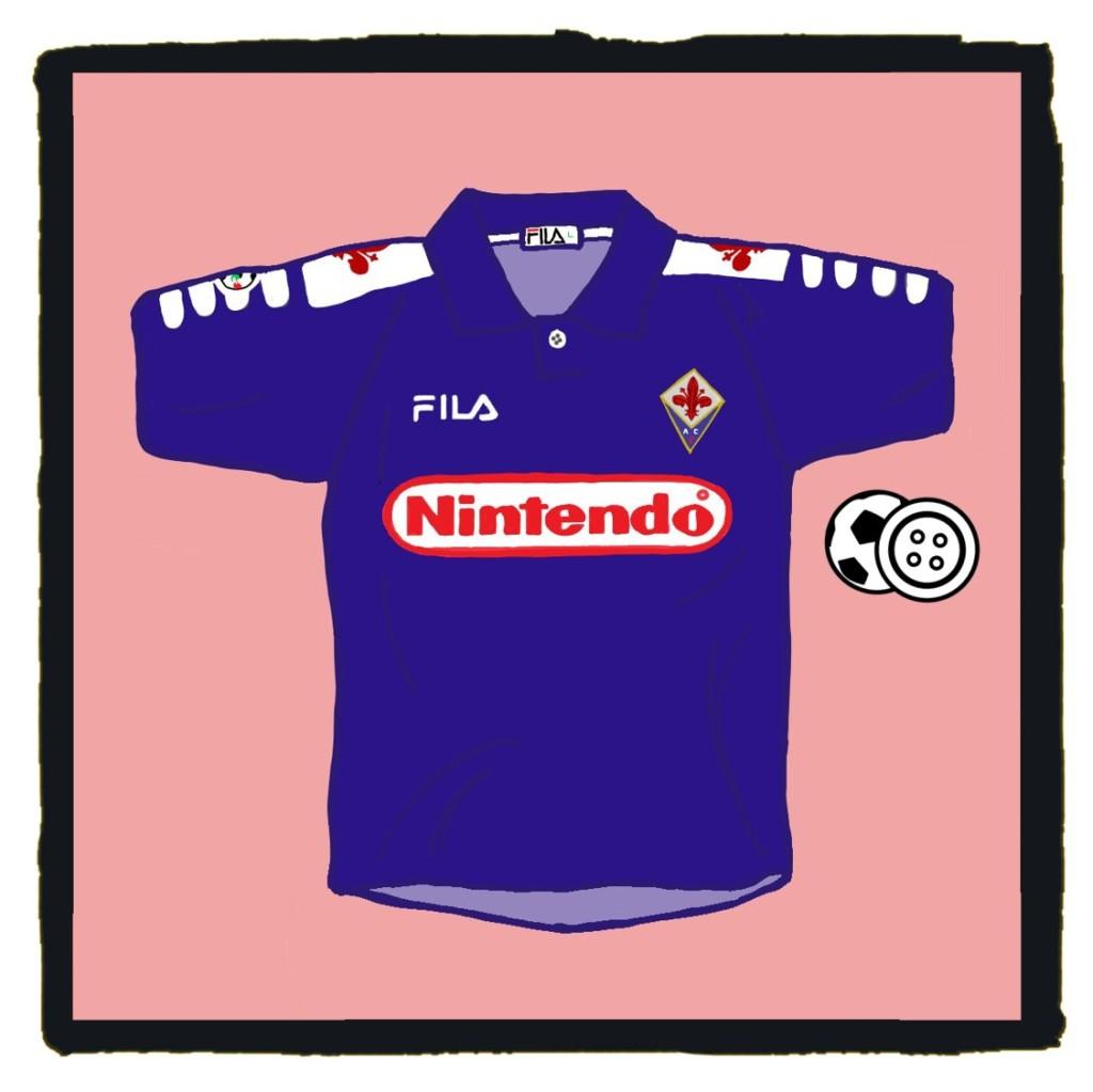 Fiorentina, Viola, Nintendo, Fila, shirt, Batistuta