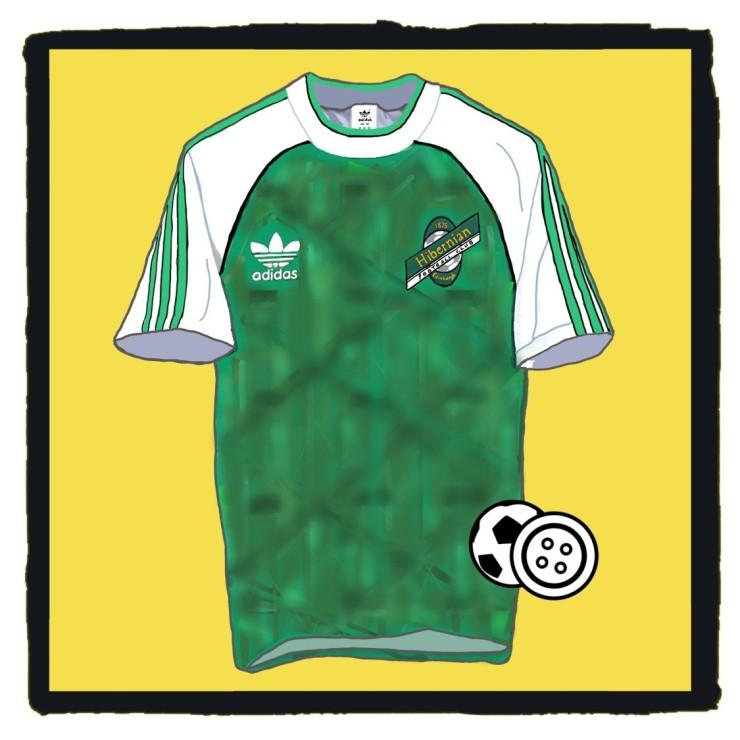 Hibs, Hibernian, 1991, Skol Cup, classic, football, shirt