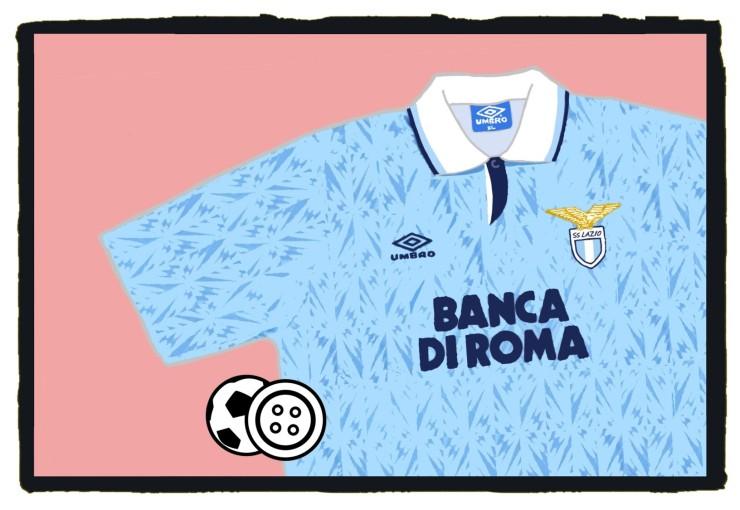 Lazio, Gazza, 1992-93, Umbro, home