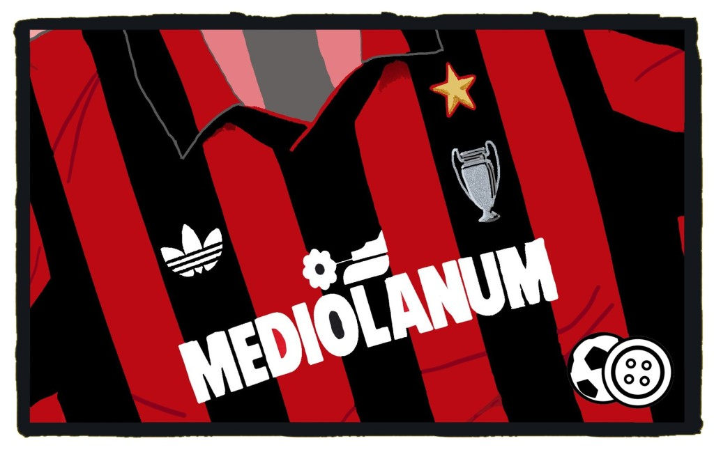 Milan, classic, Mediolanum, Adidas, 1991-92, shirt