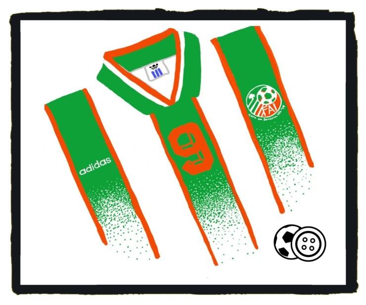 Republic of Ireland, USA '94, World Cup, Adidas, kit, away, jersey