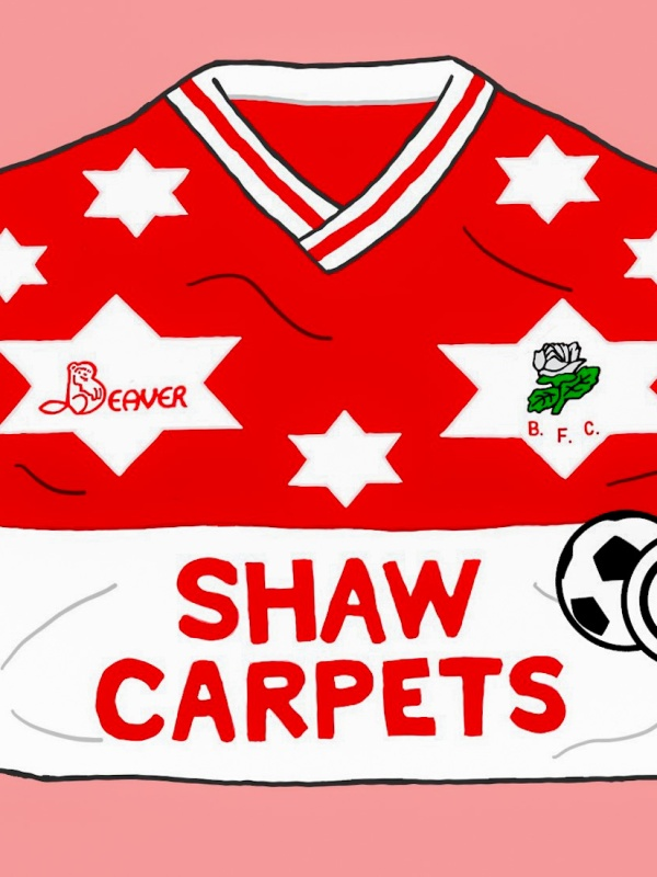Barnsley, Beaver, Stars, 1989-90, football shirt