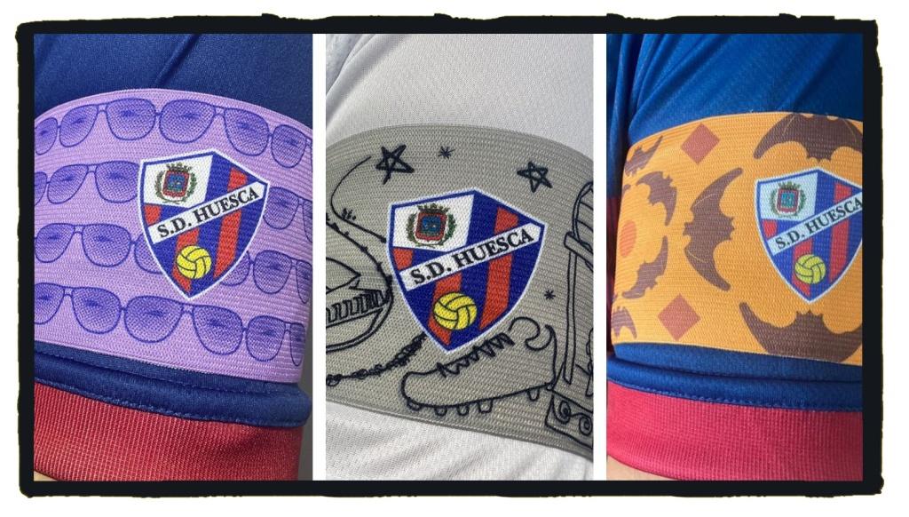 Huesca, Armbands, Real Valladolid, Atlético Madrid, Valencia