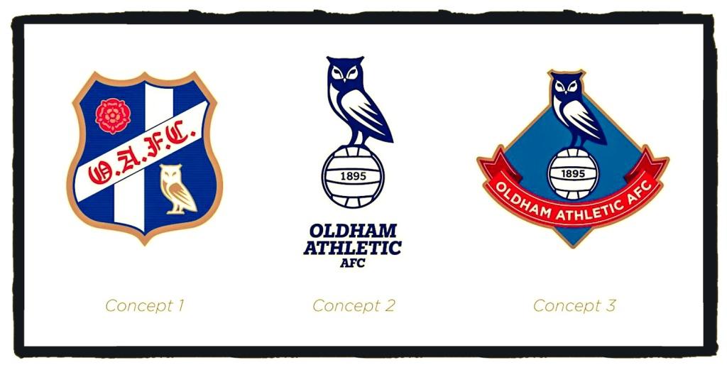 Oldham Athletic, new badge