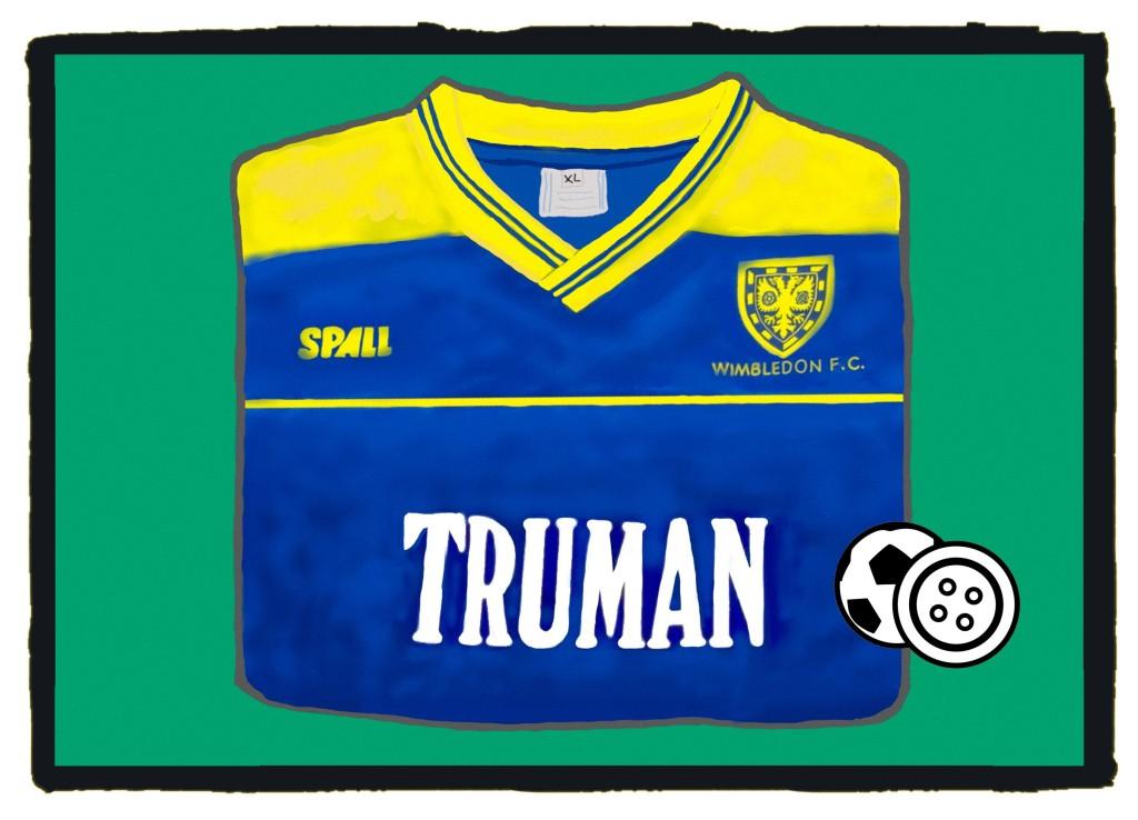 Wimbledon, 1987-88, Truman, Football Shirt, Spall