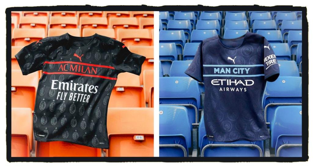 Puma, AC Milan, Manchester City, 2021-22, 3rd shirts