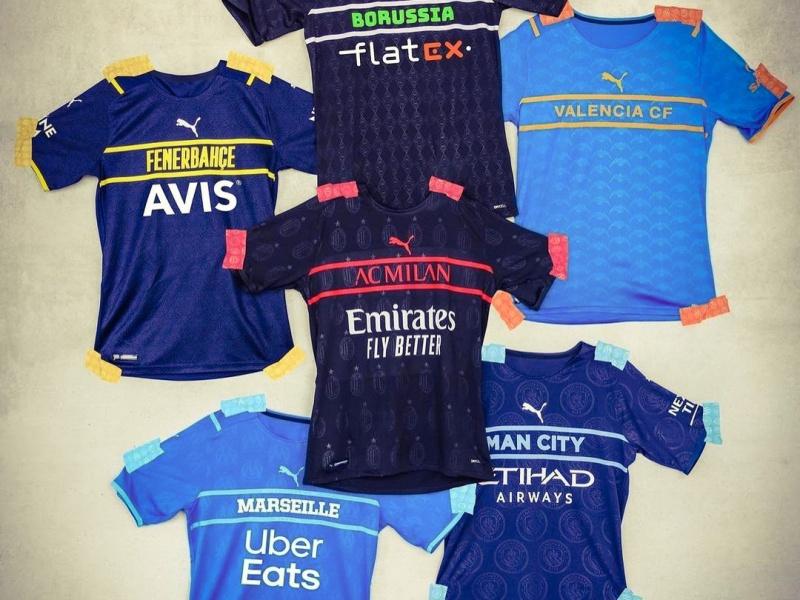 Borussia Mönchengladbach, Fenernahce, Valencia, Milan, Manchester City, Marseille, Puma, 2021-22