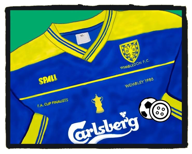 Wimbledon FC, 1988, FA Cup Final, Kit, Spall, Football