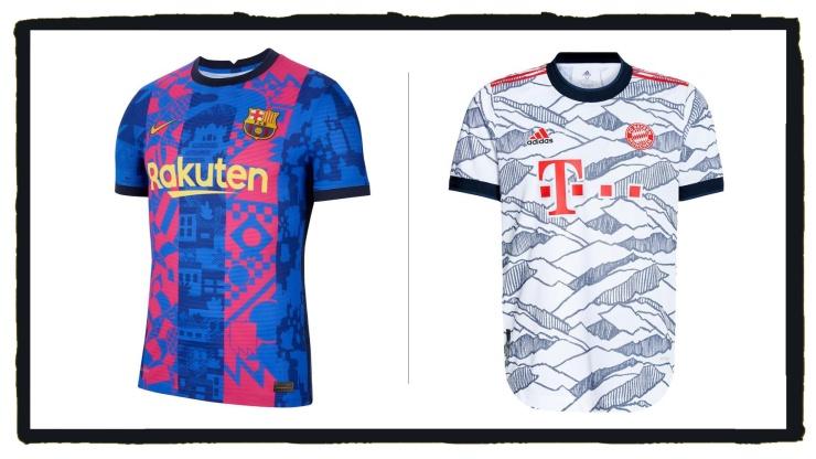 Barcelona, Bayern Munich, 3rd kits, Nike, Adidas
