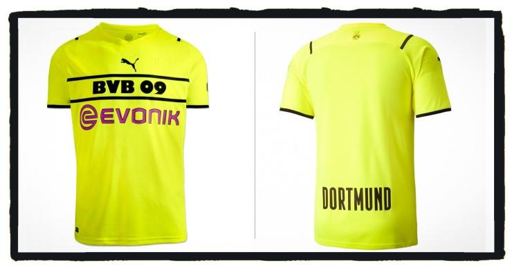 Borussia Dortmund, BVB, 2021-22, Puma, Cup, Shirt, Kit, No Badge