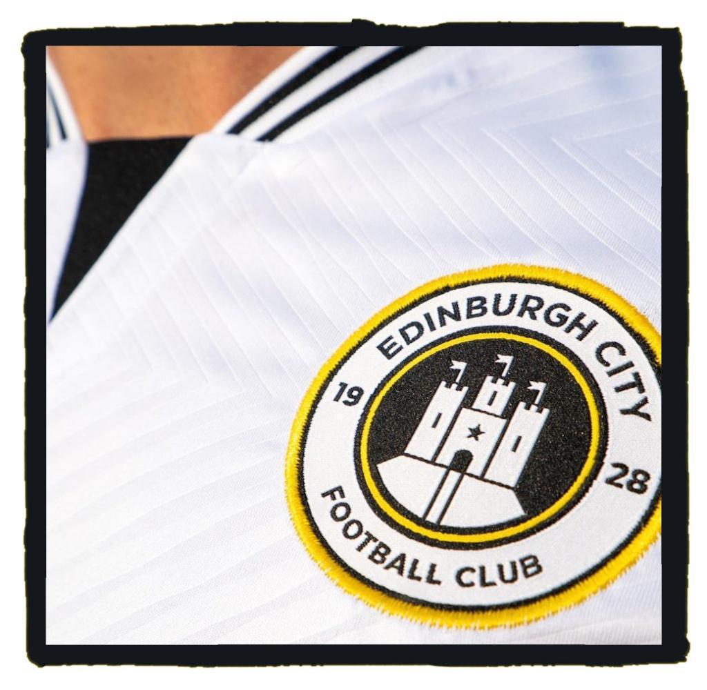 Edinburgh City, 2021-22, home, shirt, badge